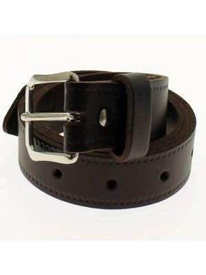 "Men's Leather Belts 1.25"" Wide - Dark Brown"