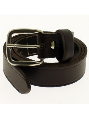 "Men's Leather Belts 1"" Wide - Dark Brown"