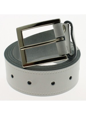 "Men's Leather Belts 1.5"" Wide - White"