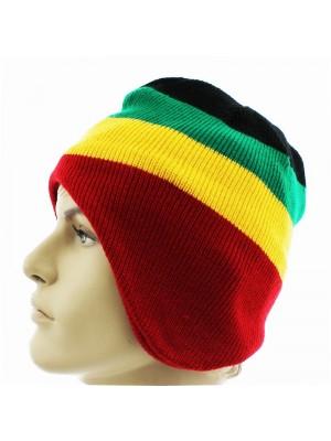 Rasta Design Knitted Peruvian Hat
