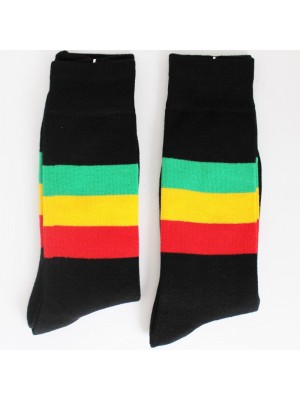 Rastafarian Flag Design Socks