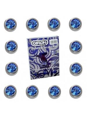 Caflon Ear Piercing Studs White Stainless September Sapphire Birthstone Regular 4mm