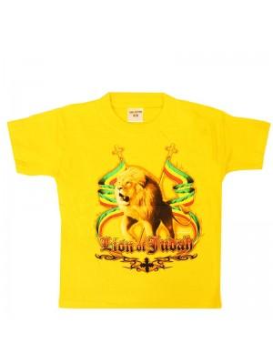 Children's Lion Of Judah Yellow Cotton T-Shirt