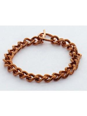Copper Bracelet - Curb Design 19 cm
