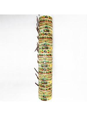 Friendship Bracelet Rasta/ Jamaican Theme On Display Roll