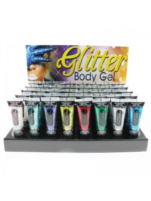Paint Glow Glitter Face & Body Gel - Full Tray (40 Pcs)