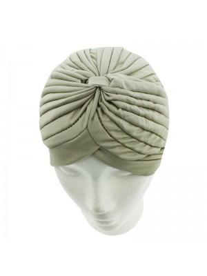 Jersey Turban Hat In Dark Beige Colour