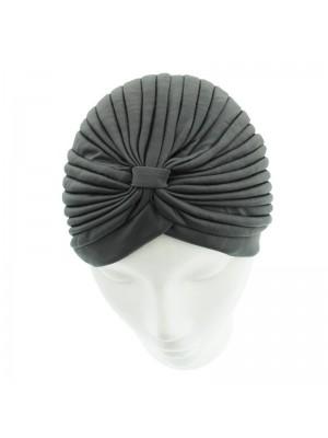 Jersey Turban Hat In Dark Grey Colour