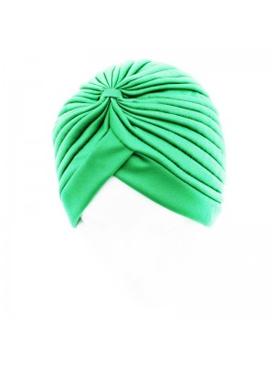 Jersey Turban Hat In Light Green Colour