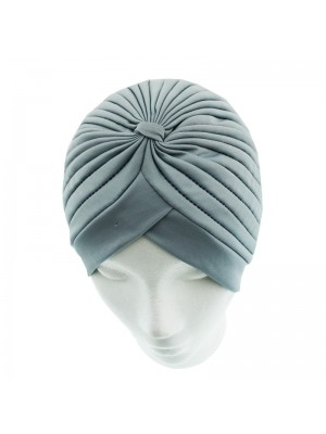 Jersey Turban Hat In Light Grey Colour