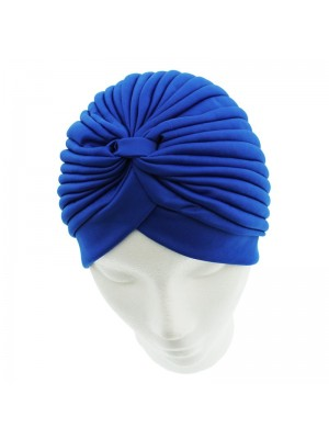 Jersey Turban Hat In Royal Blue Colour