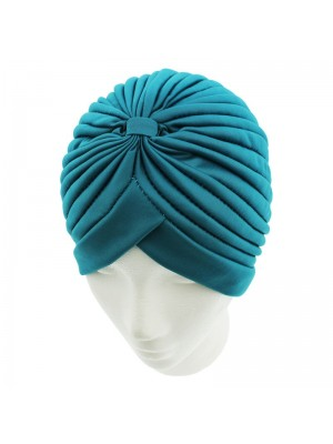 Jersey Turban Hat In Turquoise Colour