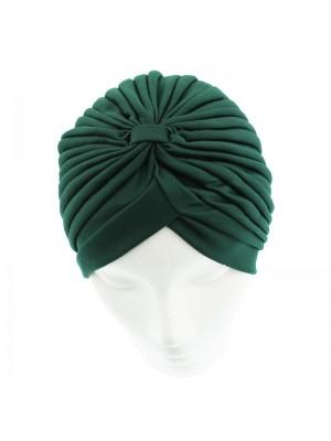 Jersey Turban Hat In Dark Green Colour