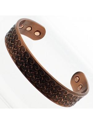 Magnetic Copper Bangle - Swirl - Medium Size