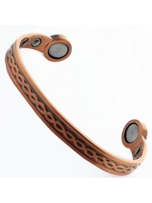 Bio Copper Magnetic Bangle - Crisscross (Medium)