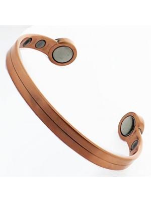 Bio Copper Magnetic Bangle - Plain (Medium)