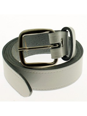 "Men's Leather Belts 1"" Wide - White"