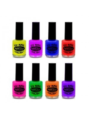 Paint Glow UV Neon Nail Polish - Assorted (8 Pcs)