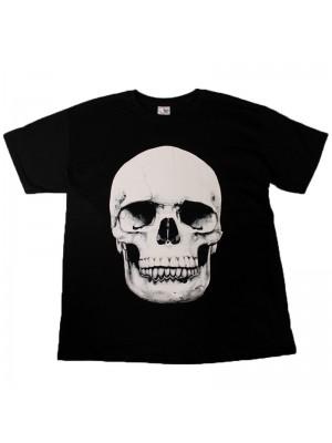 Skull Design Black Cotton T-Shirt
