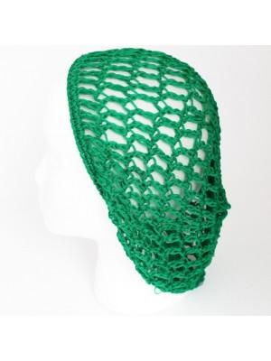 Soft Rayon Snood Hat Hair Net- Green